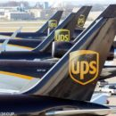 United Parcel Service air craft are being loaded with air containers full of packages bound for their final destination at the UPS Worldport All Points International Hub during the peak delivery month in Louisville, Kentucky December 3, 2015. REUTERS/John Sommers II