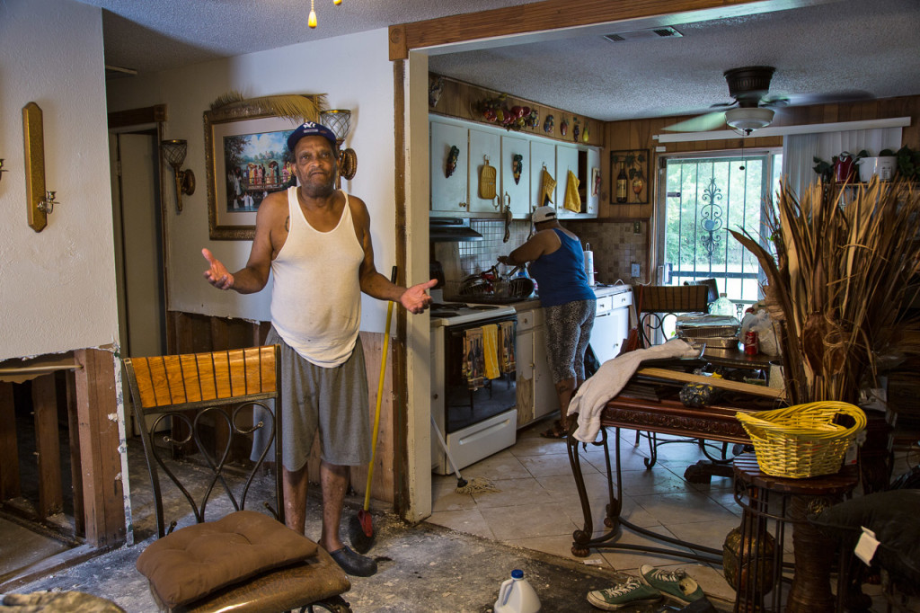 Leroy James, of East Fairlane, said he and his family will do their best to fix their home because they have nowhere else to go.