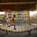 Children play in a play ground in Balderas condominium houses in Ethiopia's capital Addis Ababa 18 October 2016. TRF/Tiksa Negeri