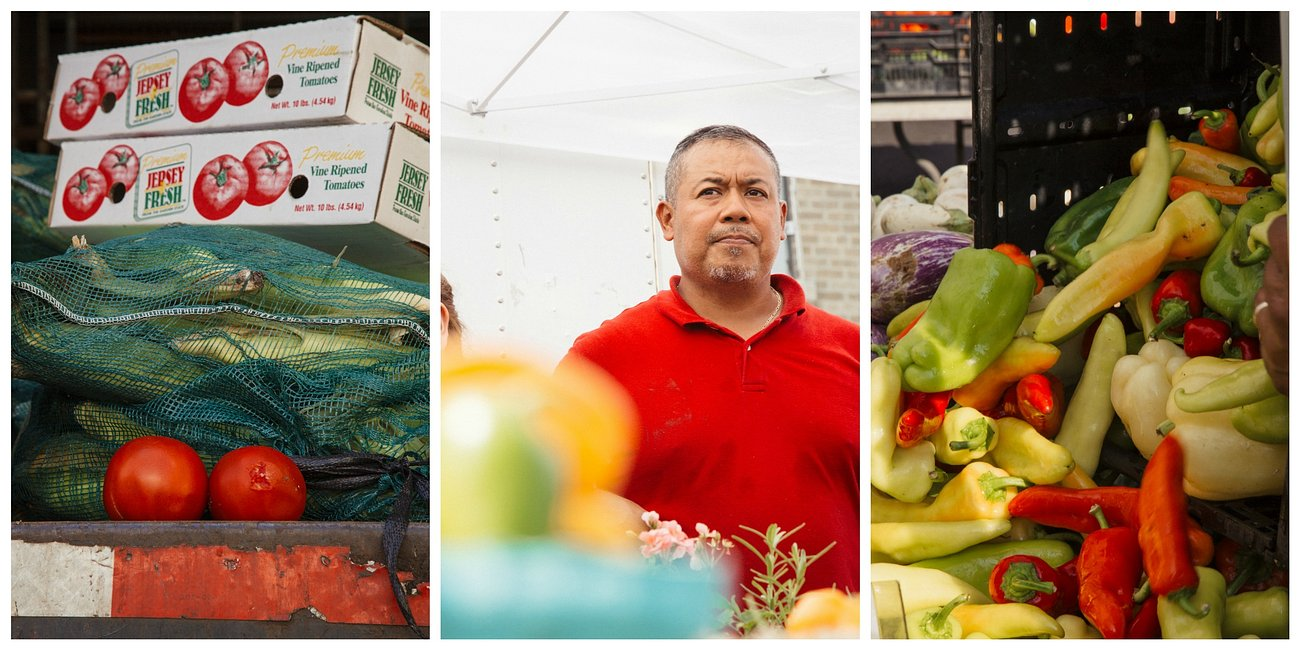 Sergio Nolasco at one of more than 50 farmers markets overseen by Greenmarket.