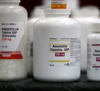 Amoxicillin penicillin antibiotics are seen in the pharmacy at a free medical and dental health clinic in Los Angeles, California, U.S., April 27, 2016. REUTERS/Lucy Nicholson